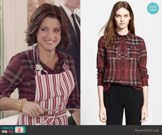 Burberry Brit Woven Check Shirt worn by Julia Louis-Dreyfus on Veep