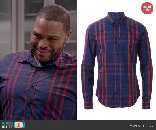 Burberry Checked Shirt worn by Anthony Anderson on Black-ish