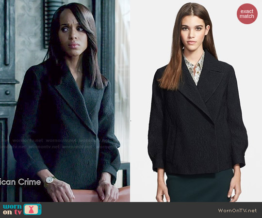 Burberry Prorsum Cloqué Jacket worn by Kerry Washington on Scandal