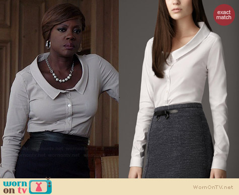 Burberry Dropped Collar Shirt worn by Viola Davis on HTGAWM