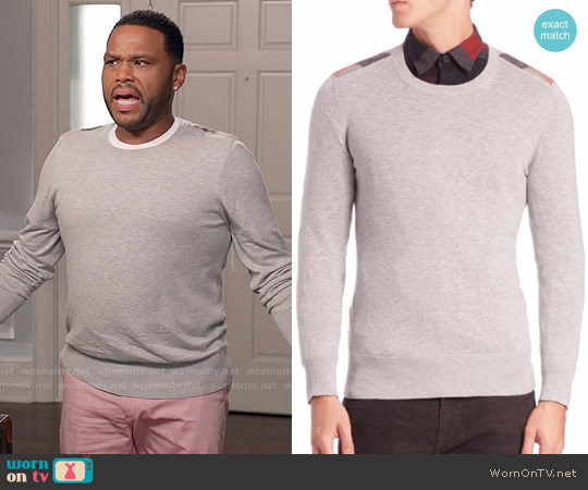 Burberry Jarvis Sweater worn by Anthony Anderson on Blackish