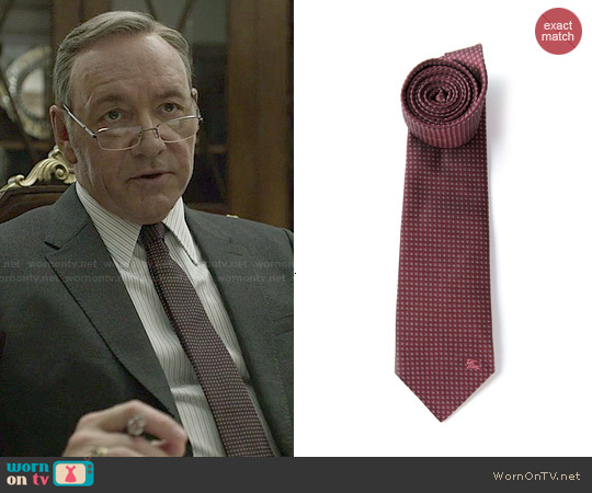 Burberry London Micro Dot Tie worn by Kevin Spacey on House of Cards