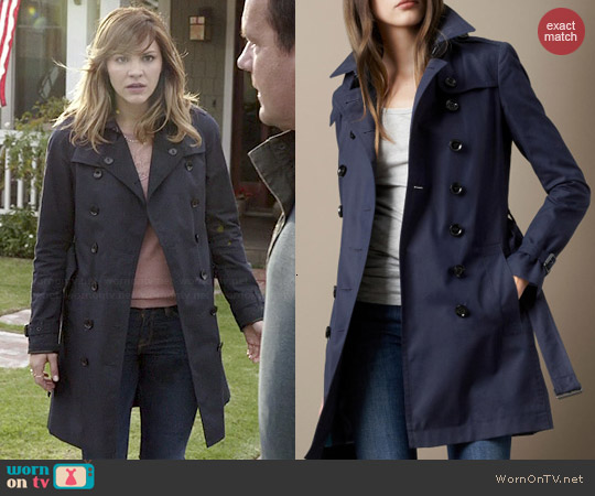 Burberry Mid-Length Cotton Poplin Trench Coat worn by Katharine McPhee on Scorpion