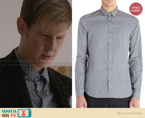 Burberry Prorsum Circle Foliage Print Shirt worn by Gabriel Mann on Revenge