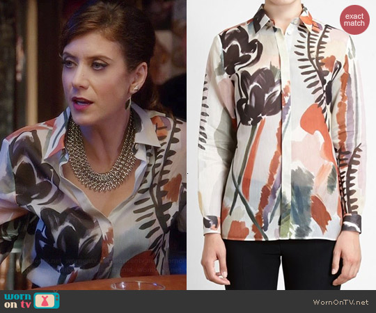 Burberry Prorsum Floral Shirt worn by Kate Walsh on Bad Judge