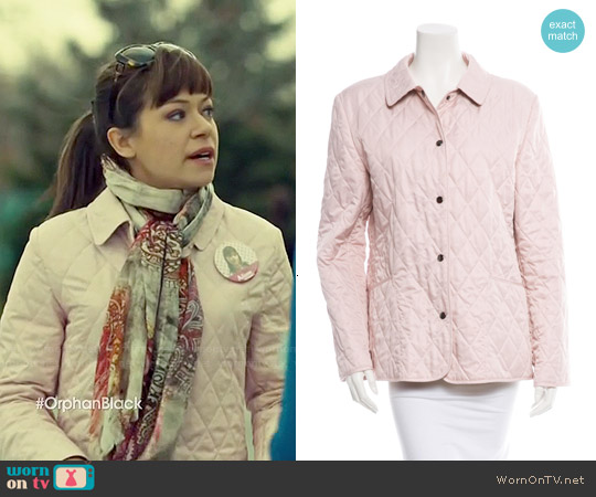 Burberry Quilted Snap Button Jacket worn by Tatiana Maslany on Orphan Black