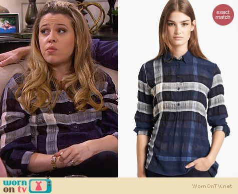 Burberry Brit Sheer Check Print Tunic worn by Majandra Delfino on FWBL