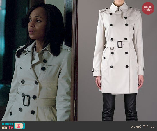 Burberry Trench Coat worn by Kerry Washington on Scandal