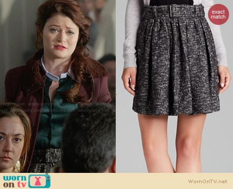 Burberry Wool Blend Skater Skirt worn by Emilie DeRavin on OUAT
