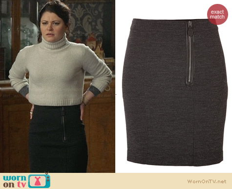 Burberry Wool Cotton Zip Skirt worn by Emilie de Ravin on OUAT