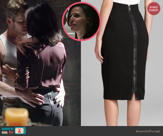 Burberry Zip Detail Pencil Skirt worn by Lana Parilla on OUAT