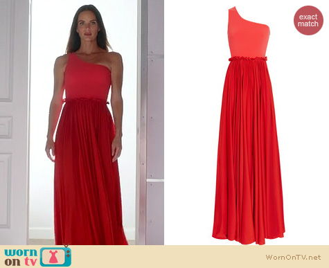 Burn Notice Fashion: Lanvin 2011 Collection Red silk one shoulder gown worn by Gabrielle Anwar