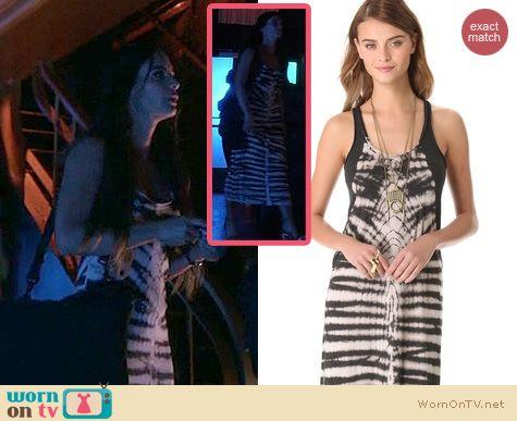 Burn Notice Fashion: Raquel Allegra tie dye maxi dress worn by Gabrielle Anwar