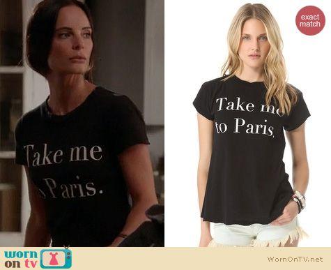 Burn Notice Fashion: Wildfox Take Me To Paris top worn by Gabrielle Anwar