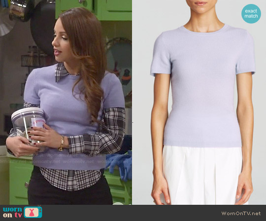 C by Bloomingdale's Cashmere Short Sleeve Sweater worn by Sofia Rodriguez on Young & Hungry
