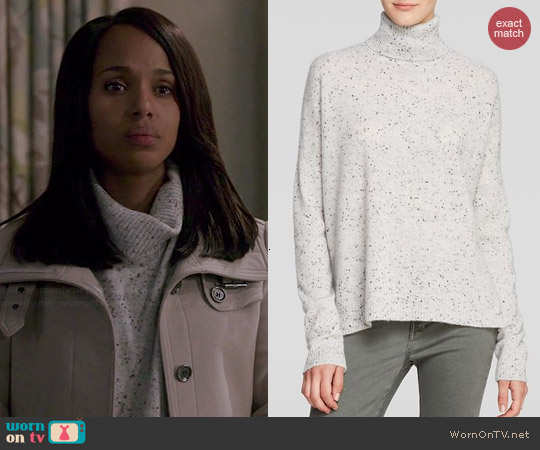 C by Bloomingdales Speckled Turtleneck Cashmere Sweater worn by Kerry Washington on Scandal