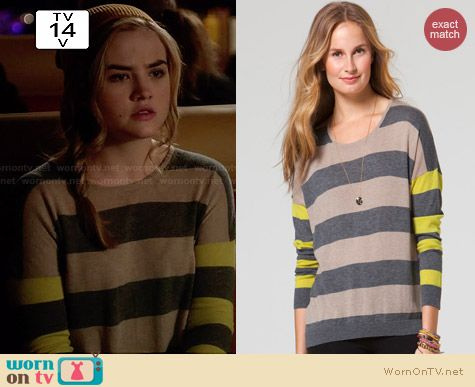 C&C California Mix Stripe Sweater worn by Maddie Hasson on Twisted