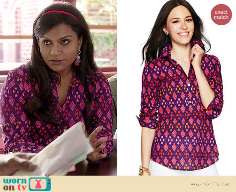 C Wonder Diamond Ikat Tunic worn by Mindy Kaling on The Mindy Project