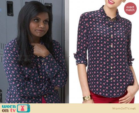 C Wonder Foulard Silk Shirt worn by Mindy Kaling on The Mindy Project