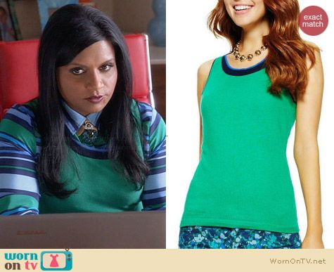 C Wonder Wheatgrass Tipped Shell worn by Mindy Kaling on The Mindy Project