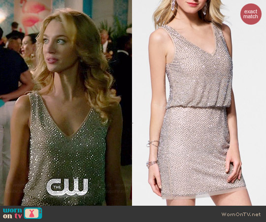 Cache Caviar Beaded Blouson Dress worn by Yael Grobglas on Jane the Virgin