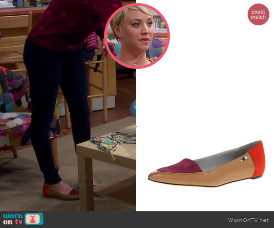 Calvin Klein Bina Flats worn by Kaley Cuoco on The Big Bang Theory