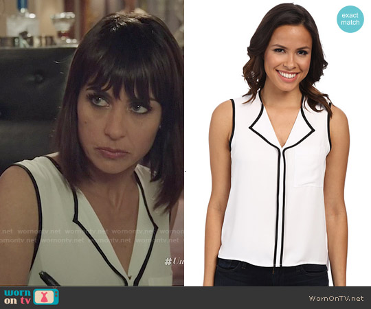 Calvin Klein Contrast Trim Shell worn by Constance Zimmer on UnReal