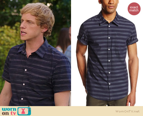 Calvin Klein Jeans Striped Shirt worn by Chris Greere on You're the Worst