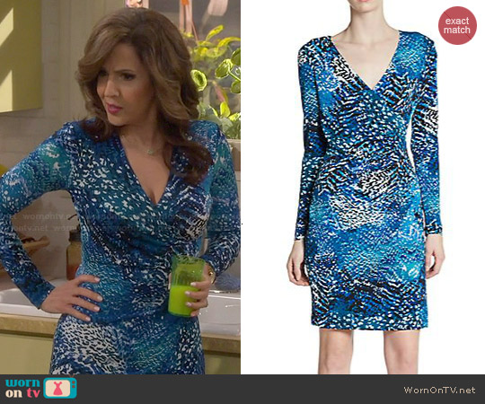 Calvin Klein Printed Jersey Dress worn by Maria Canals-Barrera on Cristela