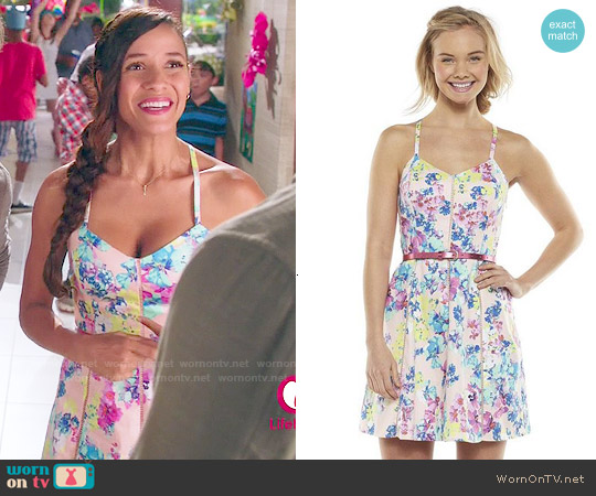 Candies Paneled Racerback Dress in Watercolor Orchid Pink worn by Dania Ramirez on Devious Maids