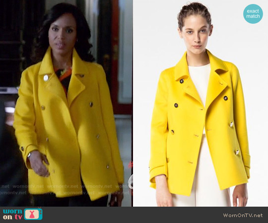 Carolina Herrera Spring 2016 Collection Yellow Jacket worn by Kerry Washington on Scandal