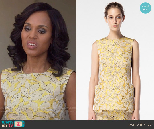 Carolina Herrera Spring 2016 Collection Yellow Top worn by Kerry Washington on Scandal