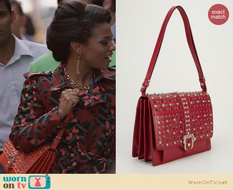 The Carrie Diaries Bags: Paula Cademartori Caroline Studded Bag worn by Freema Agyeman