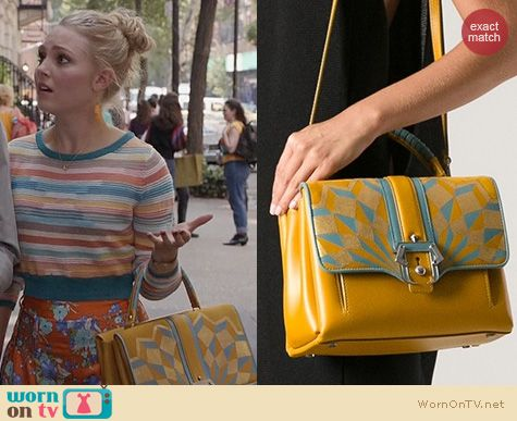 The Carrie Diaries Bags: Paula Cademartori Faye Tote worn by AnnaSophia Robb