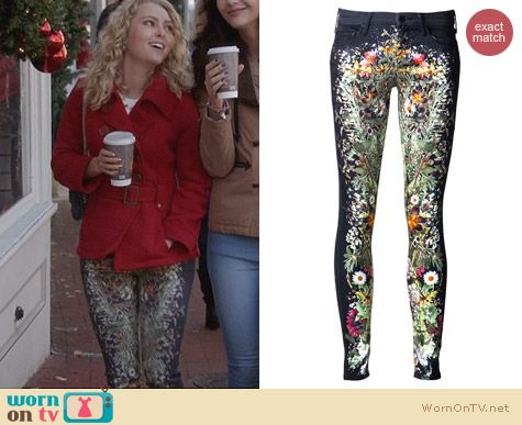 The Carrie Diaries Fashion: Mother Wildflower Jeans worn by Carrie Bradshaw