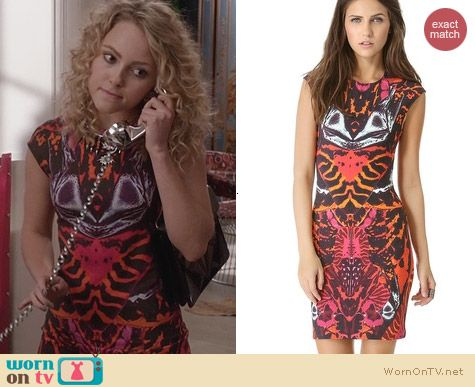 The Carrie Diaries Fashion: Alexander McQueen Mirror Print Cap Sleeve Dress worn by AnnaSophia Robb