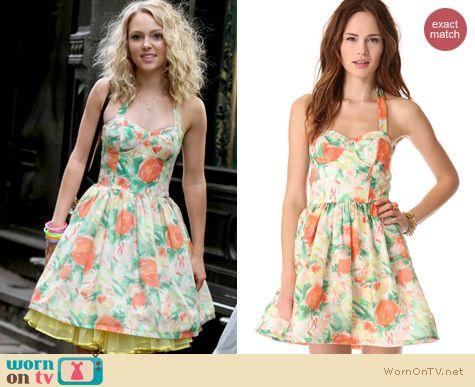 The Carrie Diaries Fashion: Alice + Olivia Fleur bustier dress worn by AnnaSophia Robb