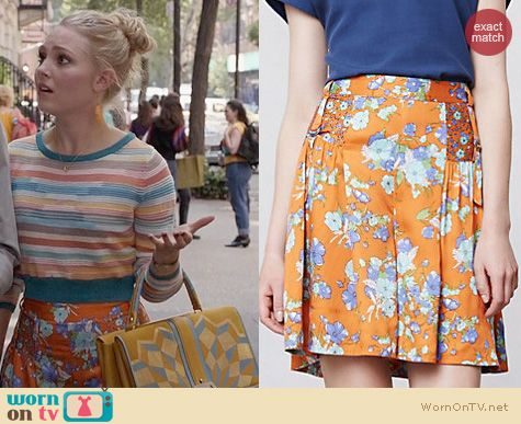 The Carrie Diaries Fashion: Anthropologie Mikai Shorts worn by Carrie Bradshaw