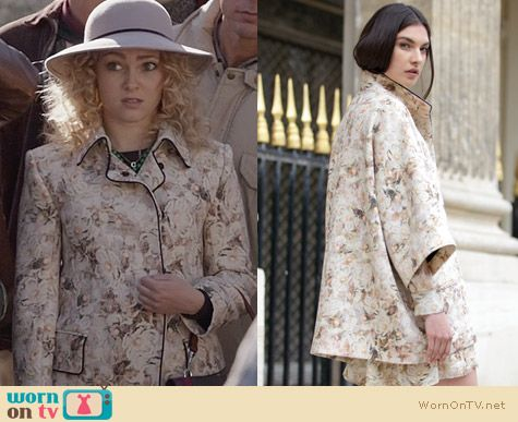 The Carrie Diaries Fashion: Chloe Resort 2012 Collection Floral Coat worn by AnnaSophia Robb