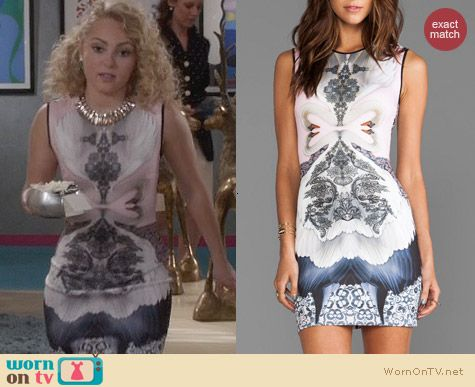 The Carrie Diaries Fashion: Clover Canyon Swan Dress worn by AnnaSophia Robb