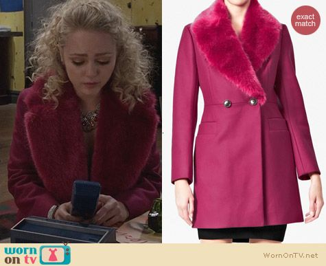 The Carrie Diaries Fashion: French Connection Salsa Fur Coat worn by Carrie Bradshaw