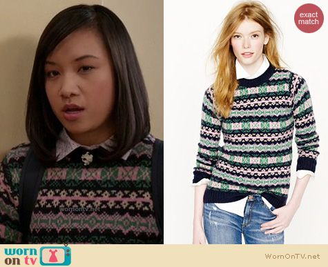 WornOnTV: Jill/Mouse's navy, pink and green fair isle sweater on ...