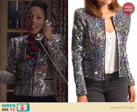 The Carrie Diaries Fashion: Joe's Jeans Opale Sequin Jacket worn by Larissa