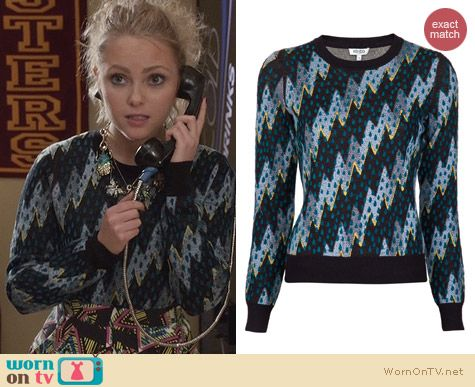 The Carrie Diaries Fashion: Kenzo Lightning Bolt Sweater worn by AnnaSophia Robb
