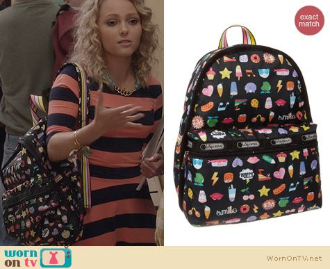 The Carrie Diaries Fashion: LeSportsac Backpack worn by AnnaSophia Robb