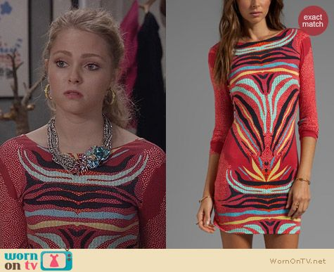 The Carrie Diaries Fashion: Mara Hoffman Scoop Back Phoenix Red Dress worn by Carrie Bradshaw
