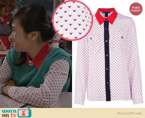 Carrie Diaries Fashion: Marc by Marc Jacobs Vivie Shirt worn by Ellen Wong