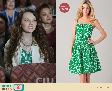 The Carrie Diaries Fashion: Milly Sarah twirl dress worn by Dorrit Bradshaw