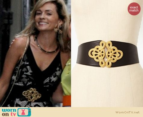 The Carrie Diaries Fashion: Nasty Gal Christian Snake Leather Belt worn by Lindsey Gort
