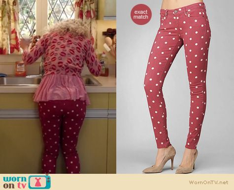 Carrie Diaries Fashion: Paige pink polka dot jeans worn by Anna SophiaRobb